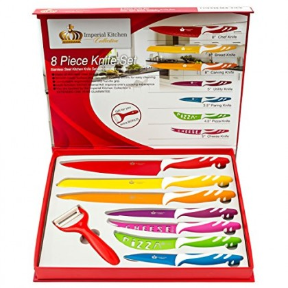 Exceptionnel Best Knife Sets Colorful Kitchen Knife Set With Premium Gift Box Stainless